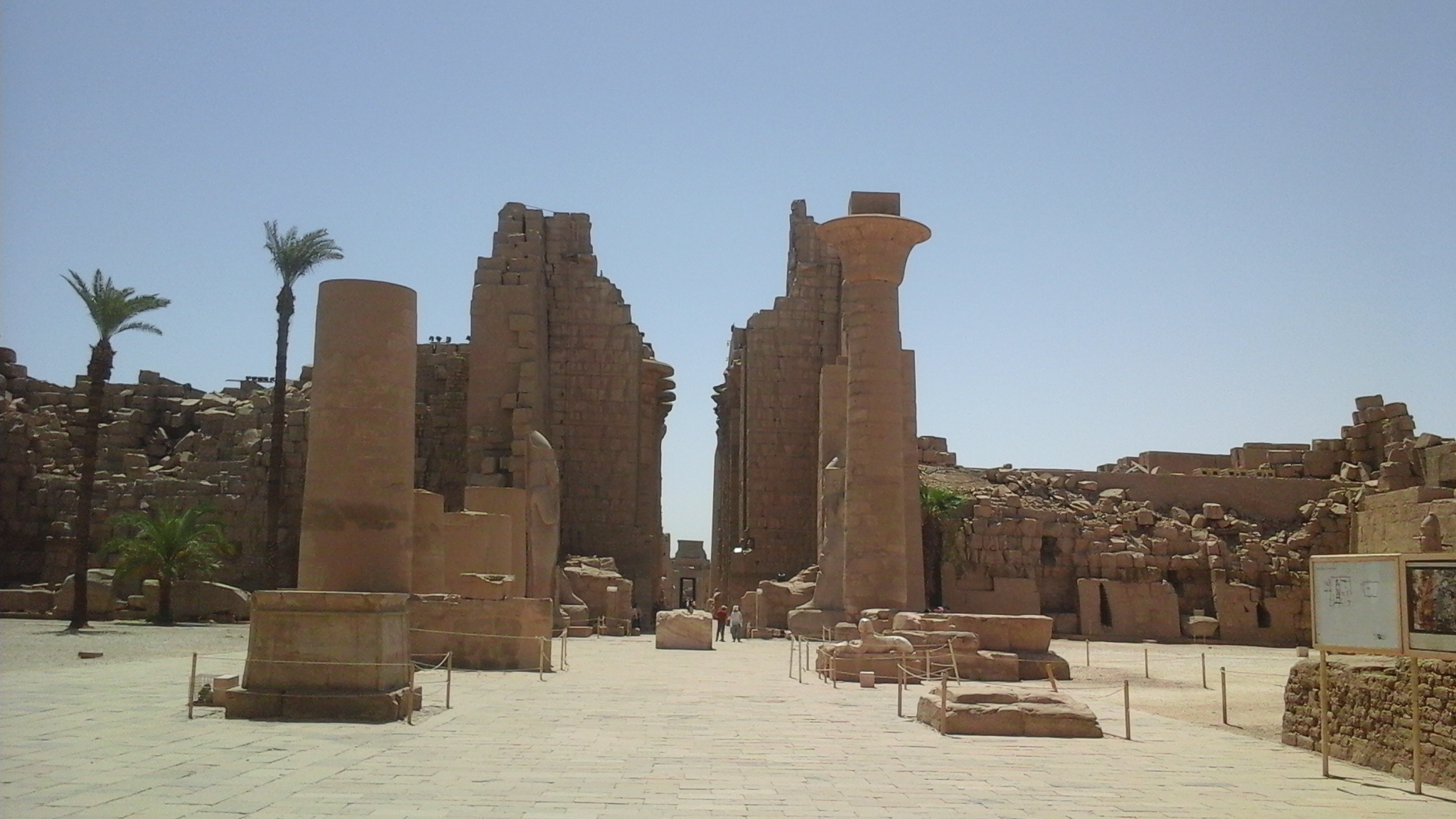 The walls of the second pylon in the temple of Karnak