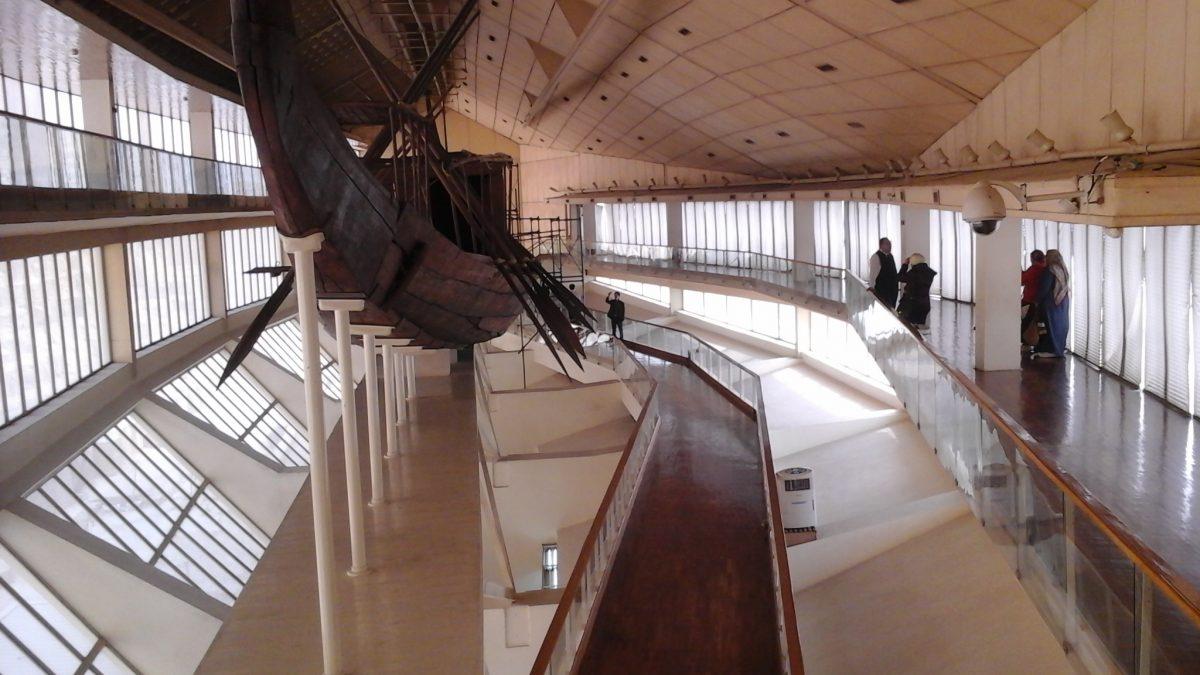 Подготовка к переброске первой лодки Хуфу