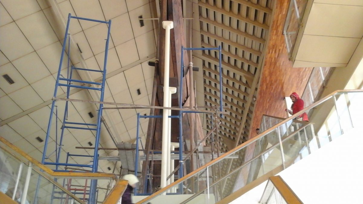 Preparation for Transfer of the First Khufu Boat