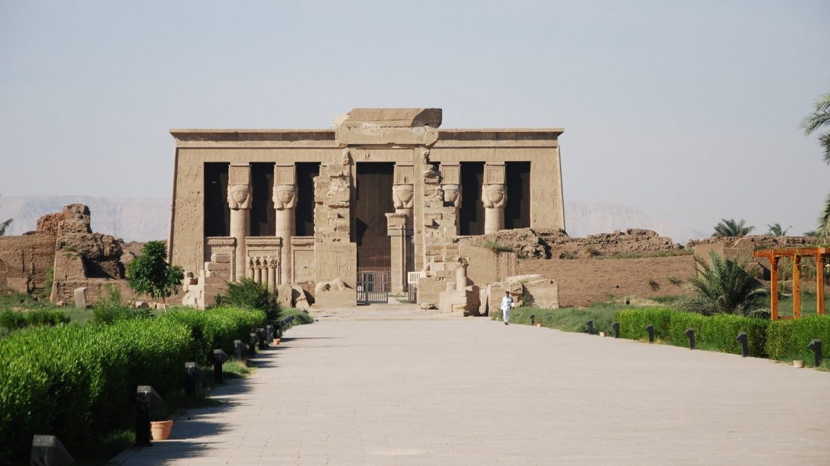 Chrám Hathor v Dendera